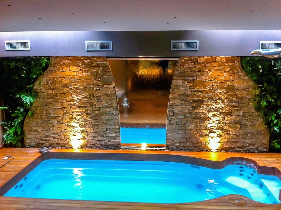 Mur d'eau intérieur en pierre,, mur d'eau intérieur miroir