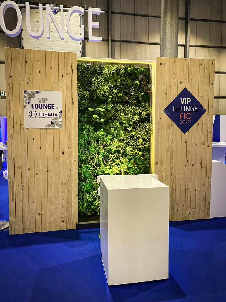 Location d'un mur végétal pour le salon de la cybersécurité 2020
